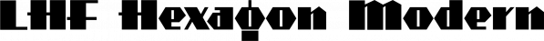 LHF Hexagon Modern font family by Letterhead Fonts