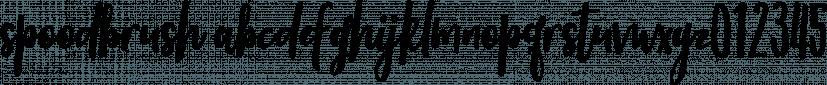 Spoodbrush font family by Dhan Studio