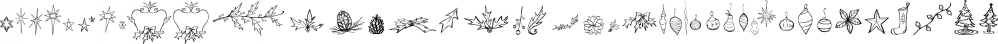 Blue Goblet Christmas Orns font family by Insigne Design
