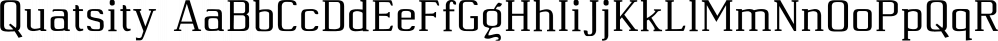 Quatsity font family by Ingrimayne Type