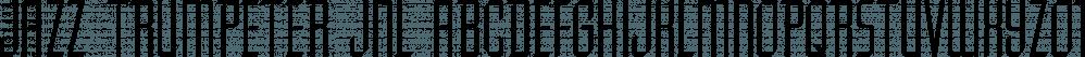 Jazz Trumpeter JNL font family by Jeff Levine Fonts