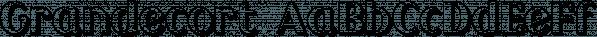 Grandecort font family by Ingrimayne Type