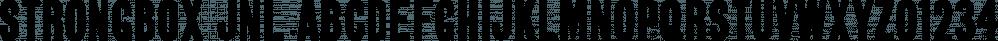 Strongbox JNL font family by Jeff Levine Fonts