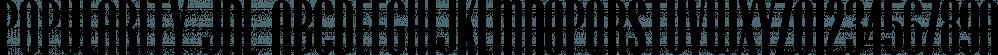 Popularity JNL font family by Jeff Levine Fonts