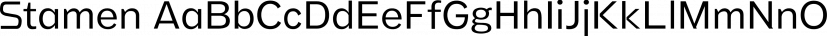 Stamen font family by Wordshape