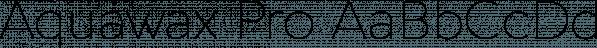 Aquawax Pro font family by Zetafonts