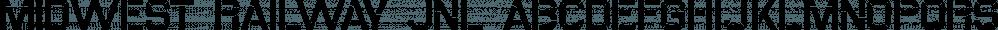 Midwest Railway JNL font family by Jeff Levine Fonts