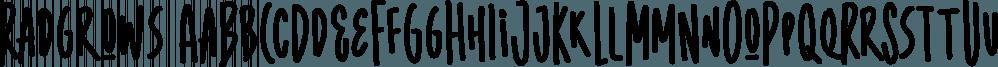 Radgrows font family by Letterhend Studio