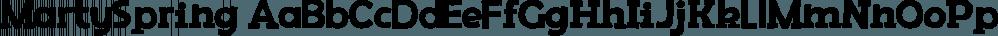 MartySpring font family by Rodrigo Typo