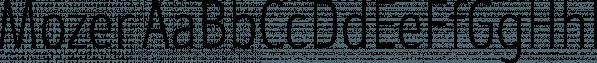 Mozer font family by Fontfabric
