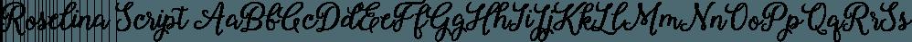 Roselina Script font family by Seniors Studio