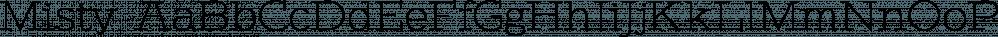 Misty font family by Gaslight