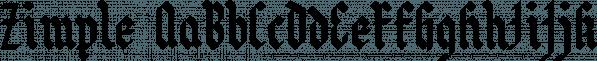 Zimple font family by Ingrimayne Type