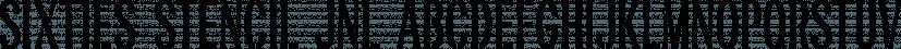 Sixties Stencil JNL font family by Jeff Levine Fonts