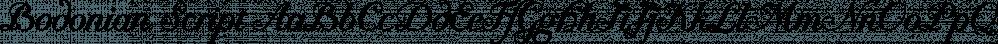 Bodonian Script font family by Wiescher-Design