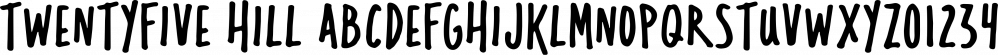 Twentyfive Hill font family by Graticle, Inc.