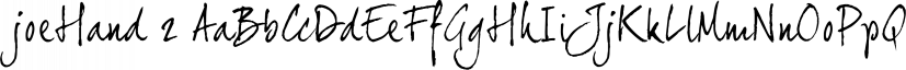 joeHand 2 font family by JOEBOB Graphics