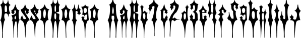 PassoBorgo font family by Intellecta Design