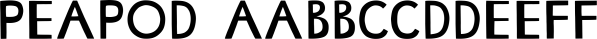 Peapod font family by Atlantic Fonts