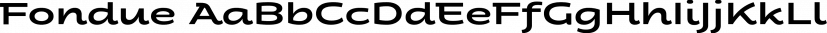 Fondue font family by Latinotype