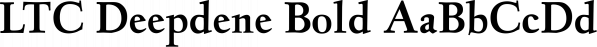 LTC Deepdene Bold font family by P22 Type Foundry