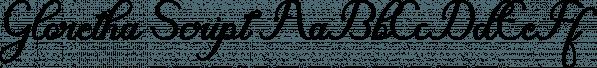 Gloretha Script font family by Picatype Studio