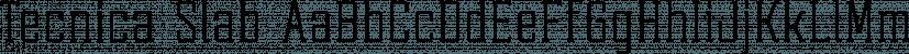 Tecnica Slab font family by Graviton