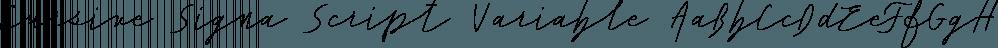 Cursive Signa Script Variable font family by Pedro Teixeira