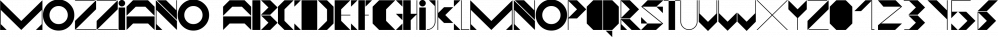 Mozziano font family by Mostardesign