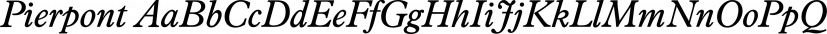 Pierpont font family by FontSite Inc.