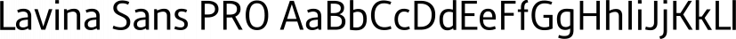 Lavina Sans PRO font family by preussTYPE