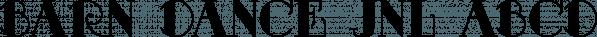 Barn Dance JNL font family by Jeff Levine Fonts