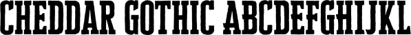 Cheddar Gothic font family by Adam Ladd