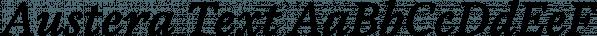Austera Text font family by Corradine Fonts