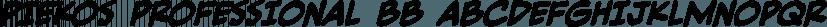 Piekos Professional BB font family by Blambot
