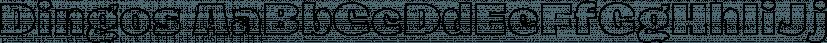 Dingos font family by Antipixel