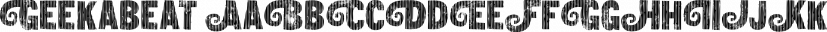 Geekabeat font family by Pizzadude.dk