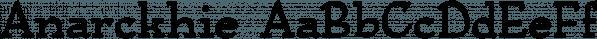 Anarckhie font family by Ingrimayne Type