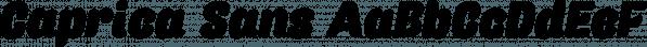 Caprica Sans font family by Måns Grebäck