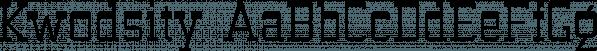 Kwodsity font family by Ingrimayne Type
