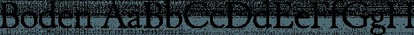 Boden font family by FontSite Inc.