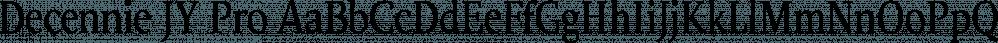 Decennie JY Pro font family by JY&A Fonts