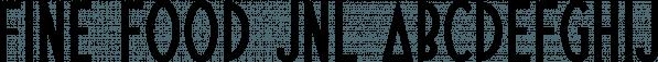 Fine Food JNL font family by Jeff Levine Fonts