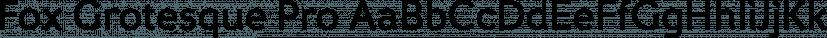 Fox Grotesque Pro font family by TipografiaRamis