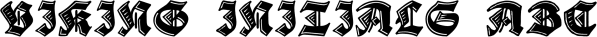 Viking Initials font family by Wiescher-Design