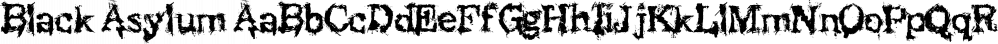 Black Asylum font family by KC Fonts