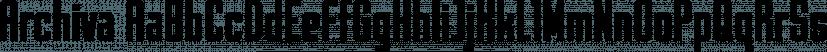 Archiva font family by CozyFonts Foundry