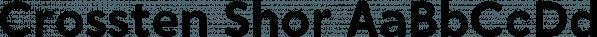 Crossten Shor font family by Guintype