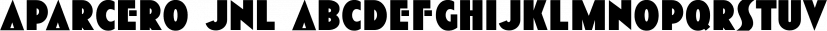 Aparcero JNL font family by Jeff Levine Fonts