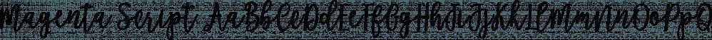 Magenta Script font family by Genesislab